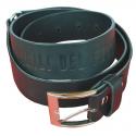 Cintura in cuoio di colore nero Vigili del fuoco
